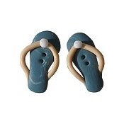 Button - Teal Swirl Flip Flops, Set of 2 THUMBNAIL
