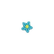 Button - Aqua Flower Head, Extra Small THUMBNAIL