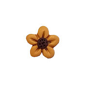 Button - Gold Flower Head, Medium THUMBNAIL