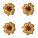 Button - Gold 8-Petal Flowerhead (Qty 4) MAIN
