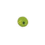 Button - Solid Green Toxic Bubble, Extra Small MAIN