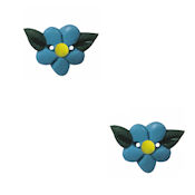 Button - Blue Wildflower (Set of 2) THUMBNAIL