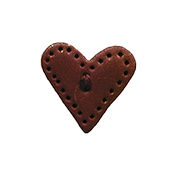 Button - Copper Red Lacy Heart MAIN