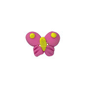 Button - Pink Social Butterfly, Small THUMBNAIL