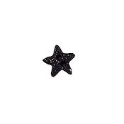 Button - Black Cosmic Star, Small MAIN