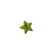 Button - Green Cosmic Star, Small/Medium MAIN