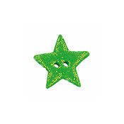 Button - Green Cosmic Star, Medium THUMBNAIL
