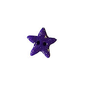 Button - Purple Cosmic Star, Small/Medium THUMBNAIL