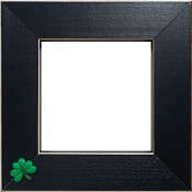 Button Frame - Shamrock 4x4 Black