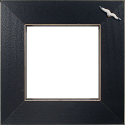 Button Frame - Seagull 5x5 Black MAIN