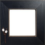 Button Frame - Roasting Marshmallows 4x4 Black