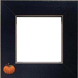 Button Frame - Pumpkin 4x4 Black MAIN