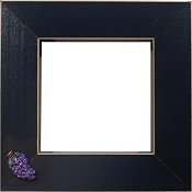 Button Frame - Grapes 4x4 Black THUMBNAIL