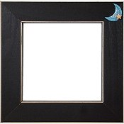 Button Frame - Blue Moon 5x5 Black