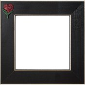 Button Frame - Terra Cotta Sweet Heart 5x5 Black THUMBNAIL
