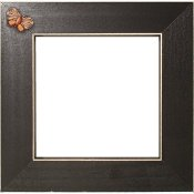 Button Frame - Dream Butterfly 5x5 Black THUMBNAIL