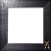 Button Frame - Christmas Bow 6x6 Black