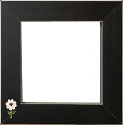 Button Frame - Daisy Heart 5x5 Black THUMBNAIL