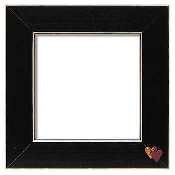Button Frame - Twin Hearts 5x5 Black MAIN