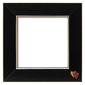 Button Frame - Twin Hearts 5x5 Black THUMBNAIL