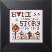 cover of Stoney Creek cross stitch pattern Simply Inspirational SI005 Where your story begins THUMBNAIL