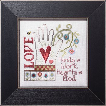 cover of Stoney Creek cross stitch pattern Simply Inspirational SI006 Hearts to God MAIN