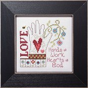 cover of Stoney Creek cross stitch pattern Simply Inspirational SI006 Hearts to God