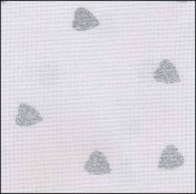 "Fabric Flair White with Silver Glitter Hearts 28ct Evenweave 18"" x 27"" THUMBNAIL"