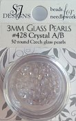 SJ Designs - 428 Crystal A/B 3MM