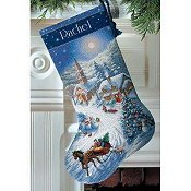 Dimensions Stocking Kit - Sleigh Ride At Dusk