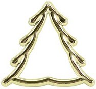 Small Gold Christmas Tree Frame THUMBNAIL