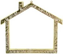 Small Gold House Frame