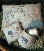 Stacy Nash Primitives - Cat & Mouse Pinkeeps & Slipper THUMBNAIL