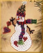 Mill Hill Snow Charmer Kit Series II - Folk Heart Snow Charmer THUMBNAIL