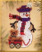Mill Hill Snow Charmer Kit Series II - Teddy Snow Charmer THUMBNAIL