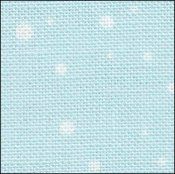 Fabric Flair Snow on Blue Linen 28ct