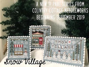 Country Cottage Needleworks - Snow Village 1 - Banner MAIN