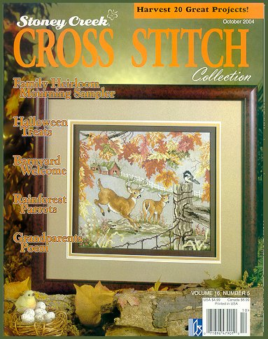 cover of Stoney Creek Cross Stitch Collection magazine October 2004 issue
