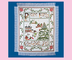 Christmas Village Afghan