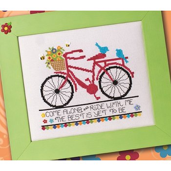 Custom Frame - Green w/ Fuchsia Flower Button
