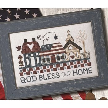 Custom Frame - God Bless Our Home