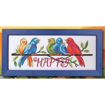 Custom Frame - Happy Birds