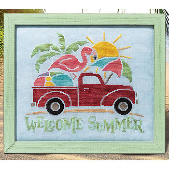 Custom Frame - Welcome Summer Truck THUMBNAIL