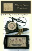 Stacy Nash Primitives - Quaker Sewing Tray, Pin Disk & Strawberry Pinkeep THUMBNAIL