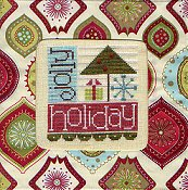 Stitch A Gift Banner - Jolly Holiday In Ornaments