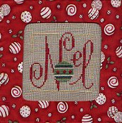 Stitch A Gift Banner - Red Ornament