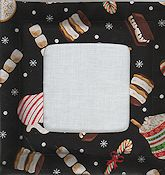 Stitch A Gift Pillow - Black Cocoa &Treats Fabric