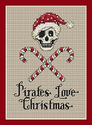 Sue Hillis Designs - Post Stitches - Pirate's Love Christmas MAIN