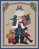 Sue Hillis Designs - Patriotic Santa