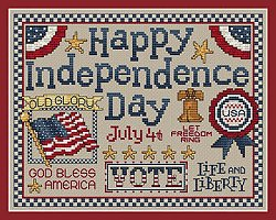 Sue Hillis Designs - Happy Independence Day MAIN